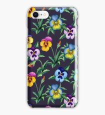 Pansy violet pattern iPhone Case/Skin
