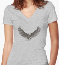 Eagle swoop Women's Fitted V-Neck T-Shirt