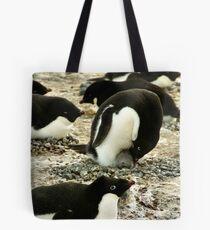 'Get Back in the Warm Chick': Adelie Penguin Tote Bag