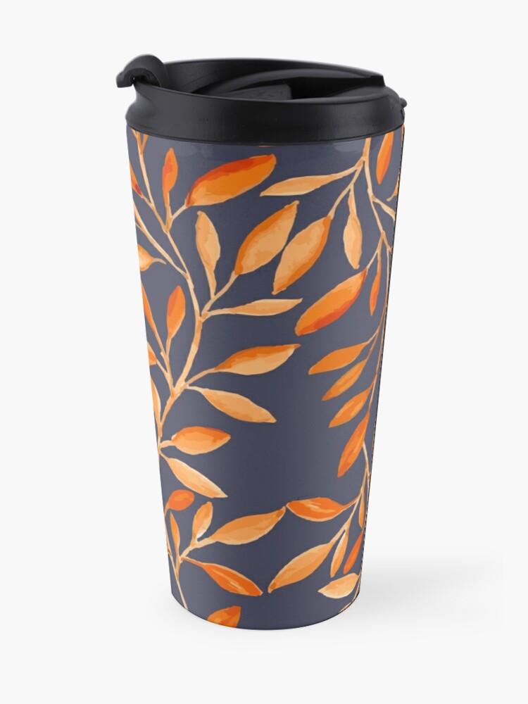 Alternate view of Autumn pattern Travel Mug