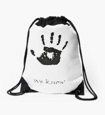 Dark Brotherhood Knows.. You've been Bad! Drawstring Bag