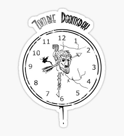 Zombie Doomsday Clock Sticker