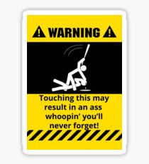 Lustiger warnender Esel Whoopin Sticker