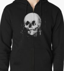 All Is Vanity: Halloween Life, Death, and Existence Zipped Hoodie