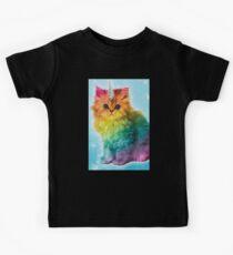 Unicorn Rainbow Cat Kitten Funny Kids Clothes