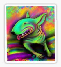 English Bull Terrier Colour Splash  Sticker