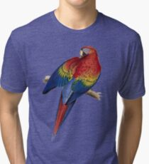 Illustration of A Scarlet Macaw Isolated On White Tri-blend T-Shirt