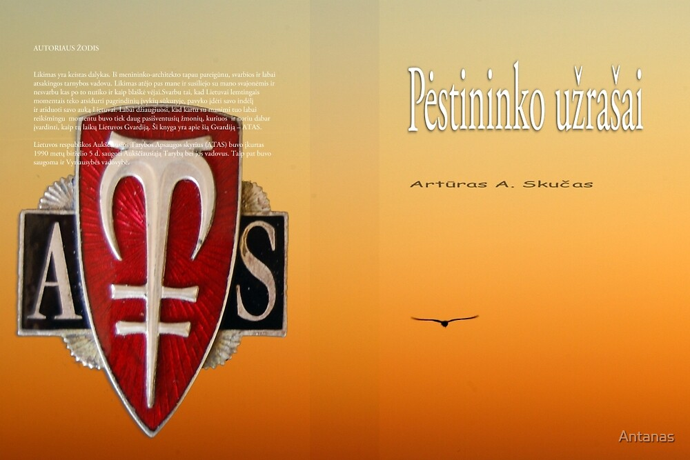 My new book cover by Antanas