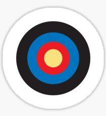 Bulls Eye, Right on Target, Roundel, Archery, Mod, Hit, on Blue Sticker