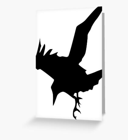 Raven A Halloween Bird Of Prey Greeting Card