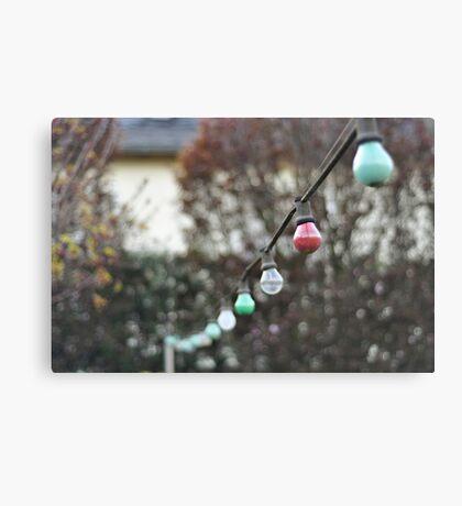 Colorful lightbulbs Canvas Print