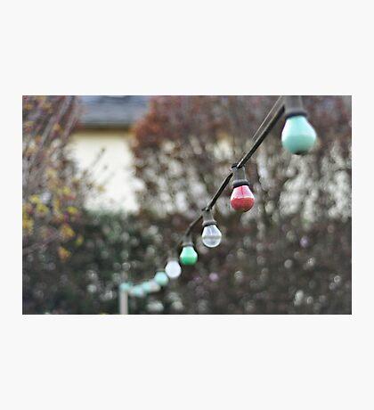 Colorful lightbulbs Photographic Print