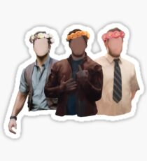 chris pratt flower crown Sticker