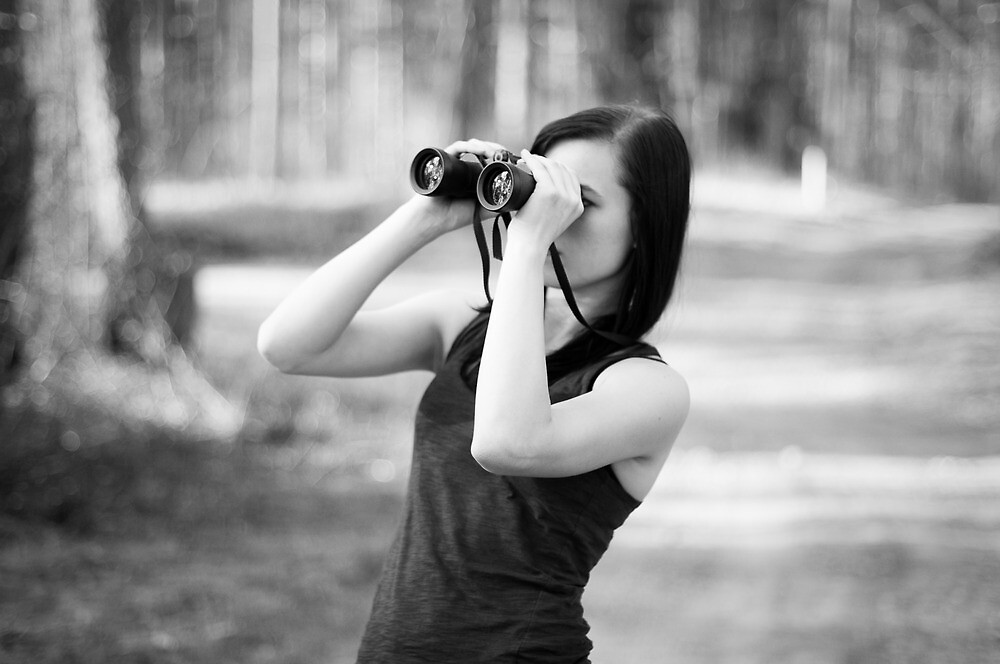 Binoculars by Anete Bauere
