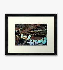 Time's Texture Framed Print