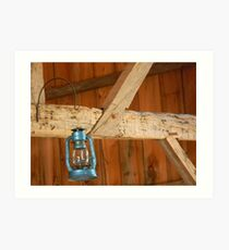 Hand Hewn Beams From 1700's Art Print