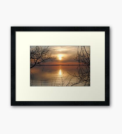 Framed Sunset Framed Print