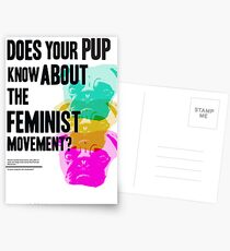 Is Your Pup Ready for the Feminist Revolution Postkarten