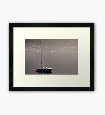 On the lake on a misty day Framed Print