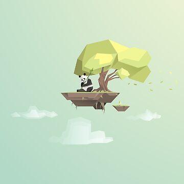 Poly Panda Bear by scarriebarrie