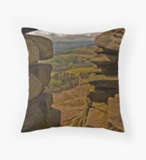 Stanage Edge Throw Pillow