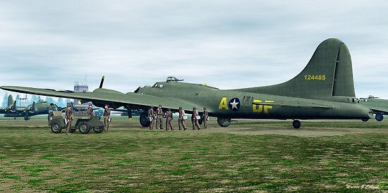 B-17 Bomber Crew by Walter Colvin