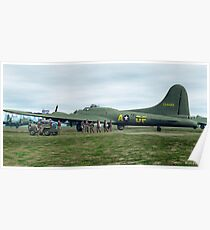B-17 Bomber Crew Poster