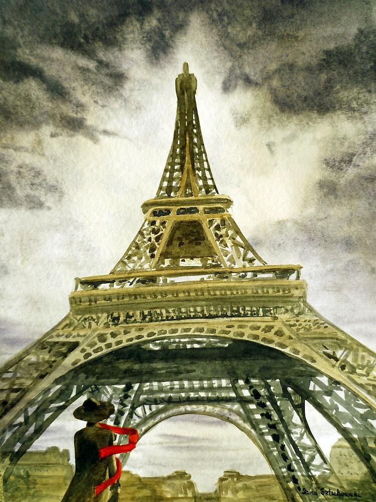 Eiffel Tower Paris France by Irina Sztukowski