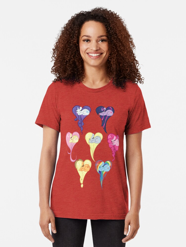 Alternate view of Group Heart Tri-blend T-Shirt