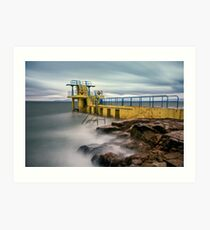 Blackrock Diving Tower Salthill Galway Ireland. Art Print