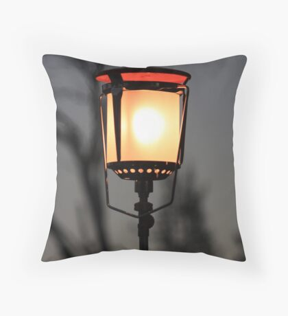 Camp Lamp Throw Pillow