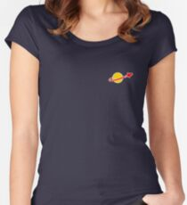 The Lego Classic Space Logo (Small Logo) Fitted Scoop T-Shirt