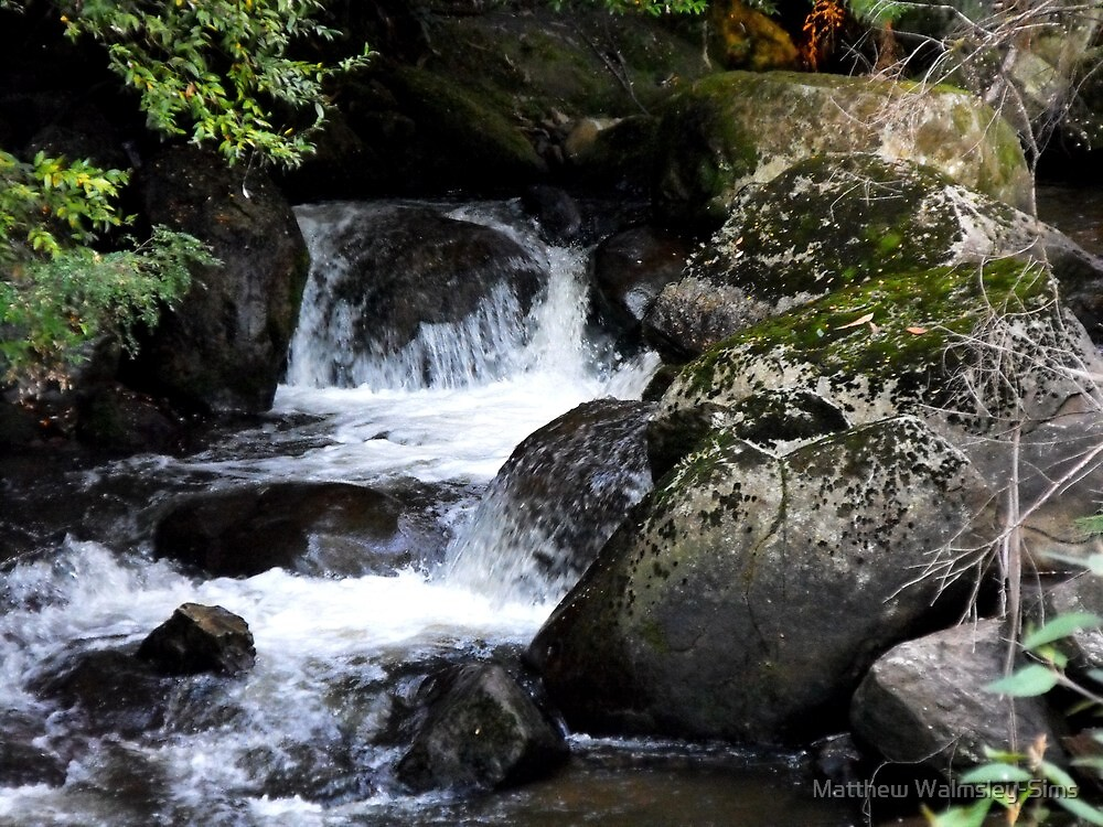 Taggerty Cascades by Matthew Walmsley-Sims