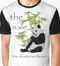 The Male Eats, Shoots and Leaves Graphic T-Shirt