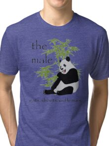 The Male Eats, Shoots and Leaves Tri-blend T-Shirt