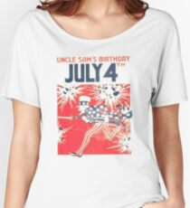 Uncle Sam's Birthday 4th July Women's Relaxed Fit T-Shirt