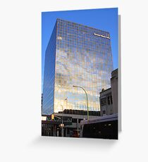 Reflections in Downtown Winnipeg Greeting Card