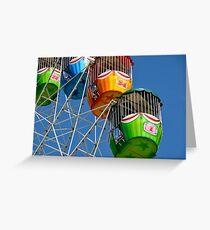 Ferris Wheel detail Greeting Card