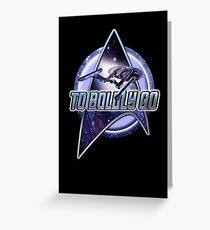 star trek T shirt Greeting Card