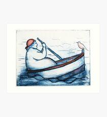 Rowing (1 of 6) Art Print