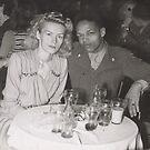 Momma and Daddy in Europe 1949 by Alga Washington