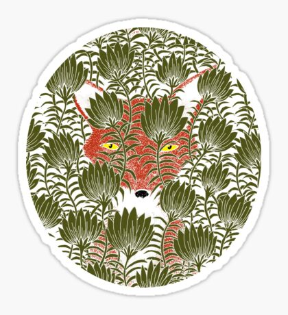 Invisible Fox Sticker