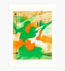 Live Irish Music Art Print