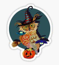 Owl Scary Sticker