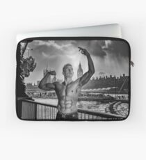 Dramatic Sky with Hot Model on the Thames in London  Laptop Sleeve