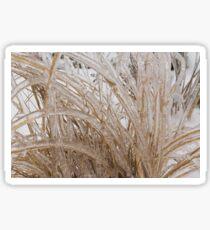 Icy Grass Sculptures Sticker