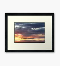 Westward Ho! sunset 444 Framed Print
