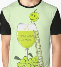 How Wine is Made Funny Illustration Graphic T-Shirt