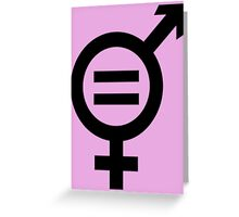 Equality - Merged Male and Female Gender Symbols Greeting Card