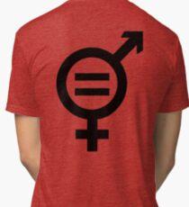 Equality - Merged Male and Female Gender Symbols Tri-blend T-Shirt